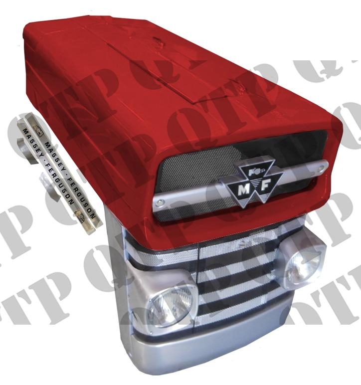 "Bonnet Kit 135 13"" Complete with Head Lamps,"