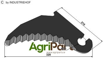 Round baler knife - AgriParts