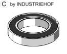Deep groove ball bearings 6210 RS