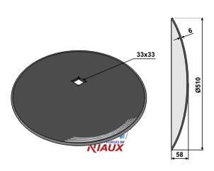 Plain disc O510x6
