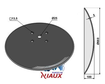 Plain disc O660x5