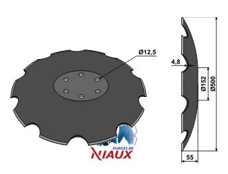 Notched disc - O500x4,8