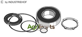 Deep groove ball bearings Set