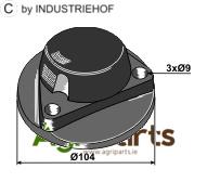Cap piece of the bearing