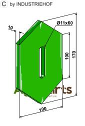 Greenflex plastic scraper for packer rolls