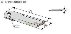 Straw chopper flail blade