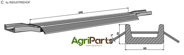 Scraper floor rail