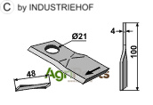 Rotary mower blade