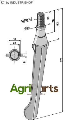 Tine for rotary harrows